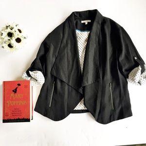 41 Hawthorn Teegan Black draped blazer